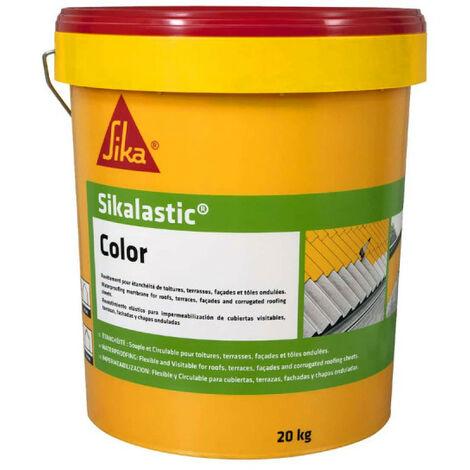 SIKA SikaLastic Color Techo impermeable flexible - Blanco - 20kg
