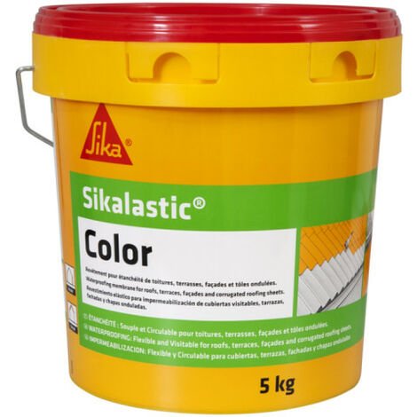 SIKA SikaLastic Color Waterproof Flexible Roof Coating - White - 5kg