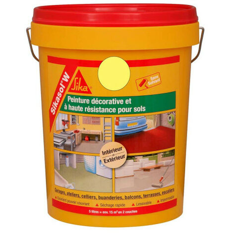 SIKA Sikasol W single-component floor paint - Yellow sand - 5L