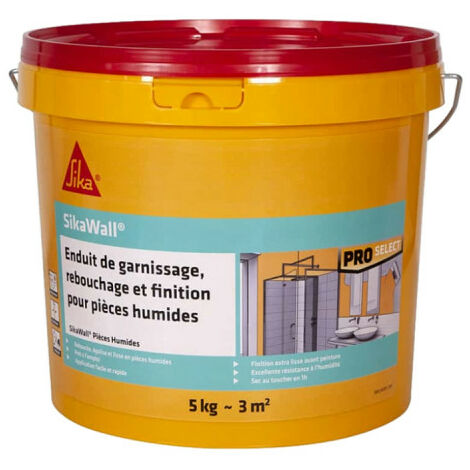 SIKA SikaWall Filler Filling and finishing for wet rooms - 5Kg