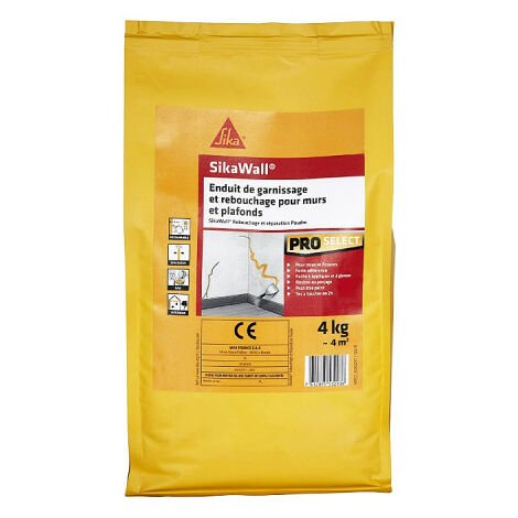 SIKA SikaWall Filling and Filling Plaster For walls and ceilings - 4Kg