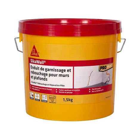 SIKA SikaWall Filling Plaster Filling and repair for paste walls and ceilings - 1,5Kg