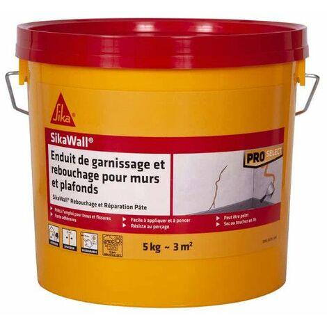 SIKA SikaWall Relleno de yeso Relleno y reparación de paredes y techos - 5Kg - Blanc