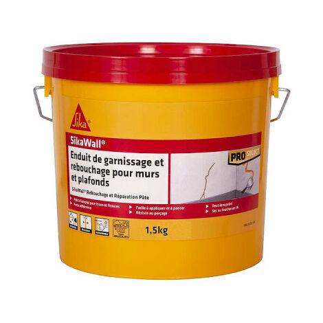 SIKA SikaWall Relleno de yeso Relleno y reparación de paredes y techos de pasta - 1,5Kg - Blanc
