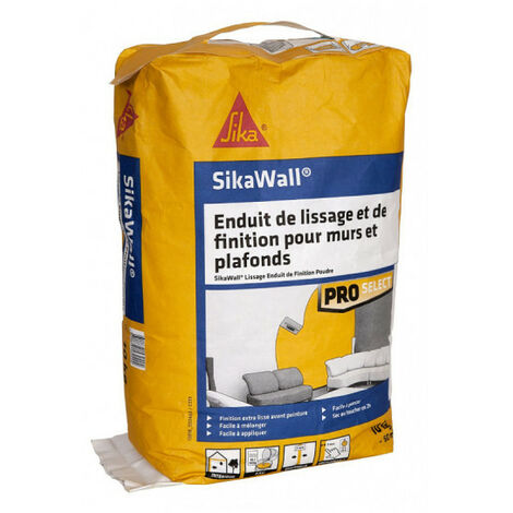 SIKA SikaWall Smoothing and Finishing Coat For walls and ceilings - 10Kg