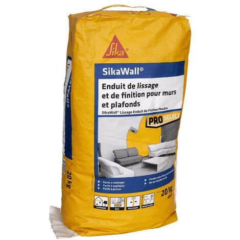 SIKA SikaWall Smoothing and Finishing Coat For walls and ceilings - 20Kg - Blanc