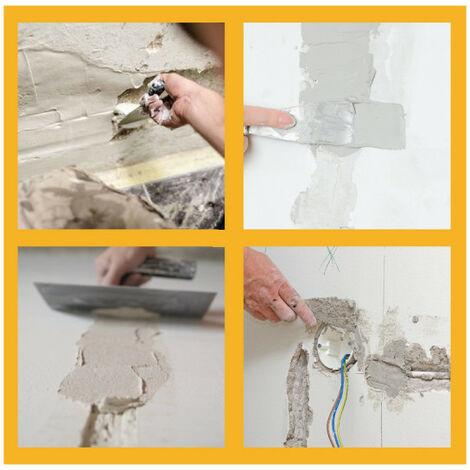 Limpiar la pared de polvo o suciedad, y aplicar imprimación