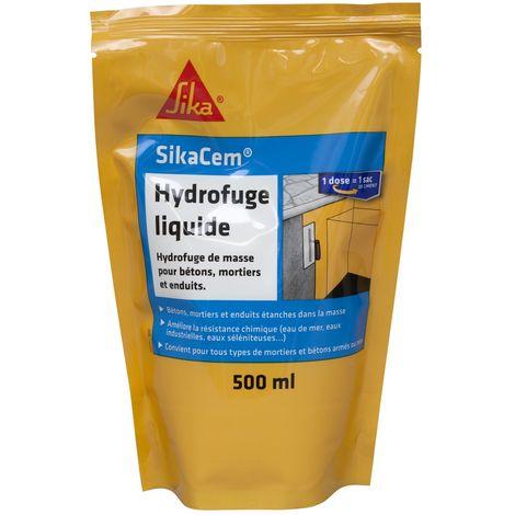 SikaCem Hydrofuge liquide pour bétons, mortiers et enduits