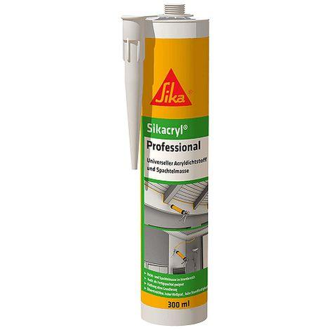 Sikacryl Sellador acrilico versatil para juntas 300 ml Blanco