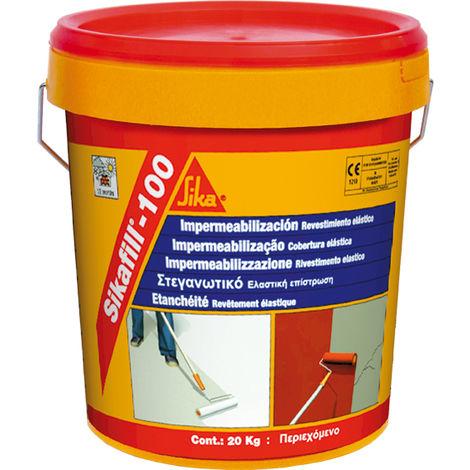 SikaFill-100, Revestimiento elastico para impermeabilizacion de cubierta, Rojo teja, 5kg