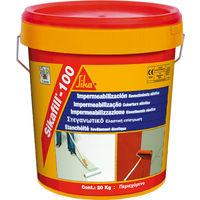 Sikafill impermeabilizante acrilico rojo 20 Kg