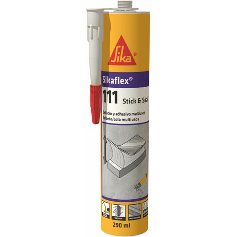 Sikaflex - 118 Extreme Grab, Masilla adhesiva de alto agarre inicial, 290 cm3, Blanco