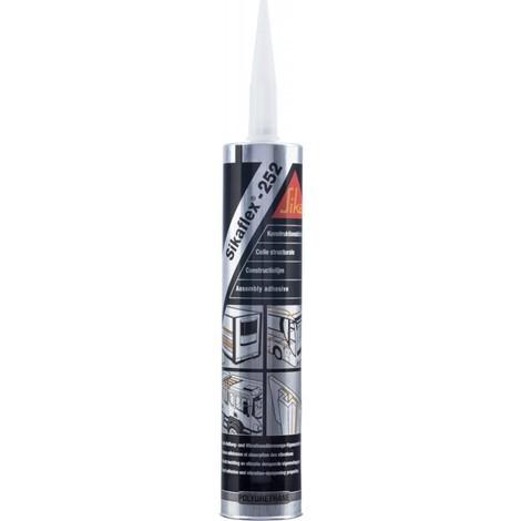 Sikaflex 252 Noir 300 ml cartouche colle de 1 K (Par 12)