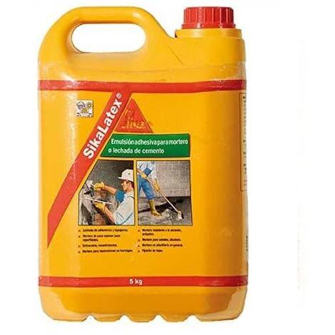 SikaLatex Emulsion adhesiva para mortero 5 Kg Blanco