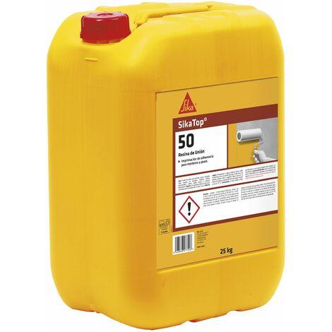 SikaTop 50 Resina de Union, Imprimacion de adherencia para morteros y yesos, 25kg, Blanco