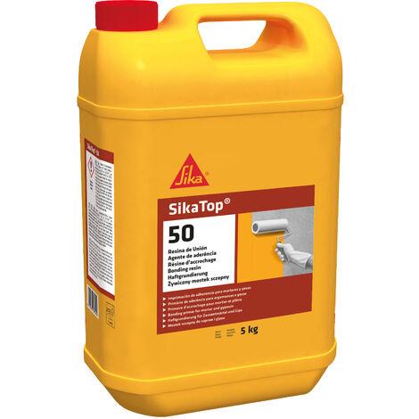 SikaTop 50 Resina de Union, Imprimacion de adherencia para morteros y yesos, Transparente, 5 kg
