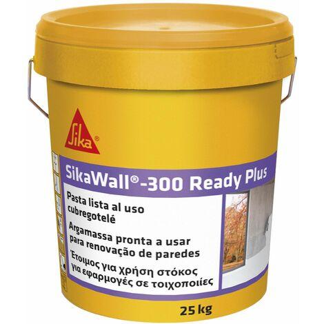 SikaWall-300 Ready Plus, Masilla acrylica lista para usar para puenteo de fisuras y peque��as reparaciones, Blanca, 25 kg