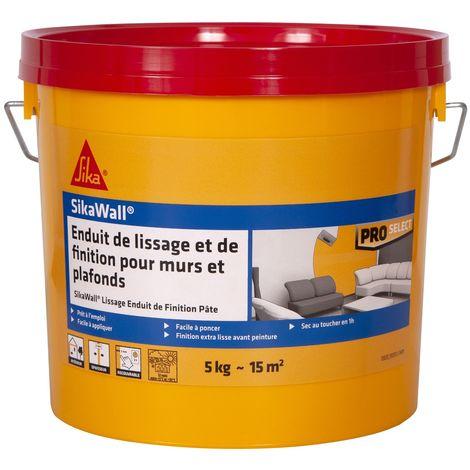 Sikawall Lissage Enduit de Finition pâte 5kg Blanc | Couleur: Blanc
