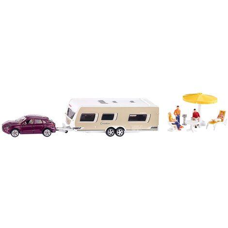 Siku Car With Caravan 1:55 - Multicolour