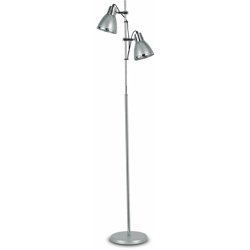 Silber ELVIS Stehleuchte 2 Lampen - 01-IDEAL LUX