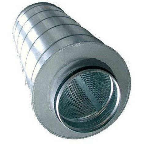 Silencieux métal 125/600mm-conduit de ventilation