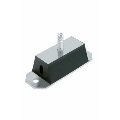 Silent Bloc rectangulaire Male 60X165 à fixer - M12
