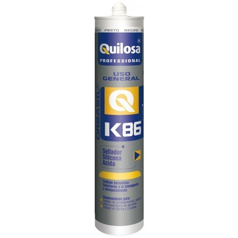 Silicona acida u/gral 300 ml neg prof. orbasil k-86 quilosa