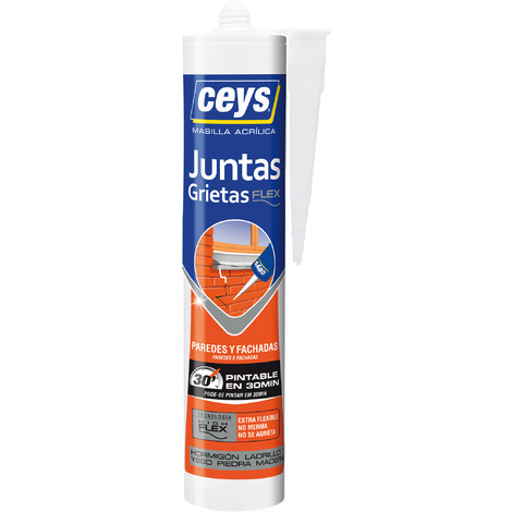 Silicona Cartucho Grietas Pintable 280 Ml - CEYS - 505608