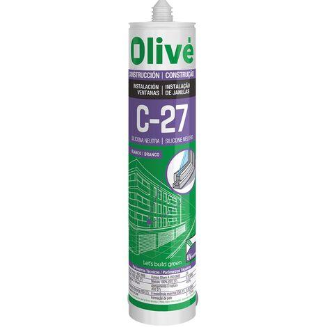 Silicona Neutra OLIVƒ C-27, 1 CAJA= 24 UNDS.