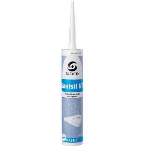 Silicone blanc - 310 ml - Sanisil NT - Sélection Cazabox