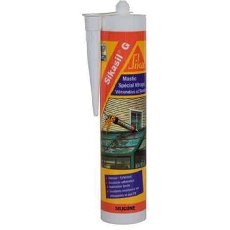Silicone elastic sealant for the manufacture of sealing rings - SIKA Sikasil G - Transparent - 300ml