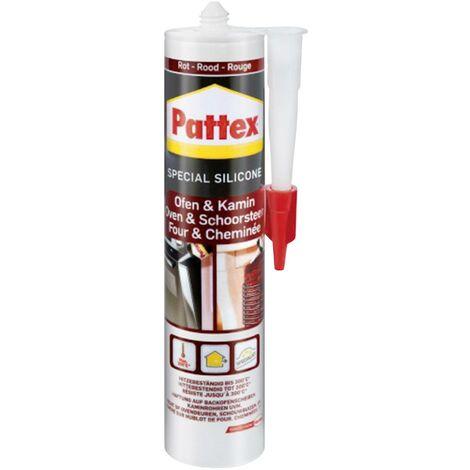 Silicone four & cheminée 300 ml Couleur rouge Pattex PFOFR C02520