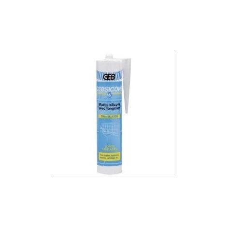 Silicone Gebsicone W pour appareils sanitaires 12 cartouches de 310ml blanc GEB