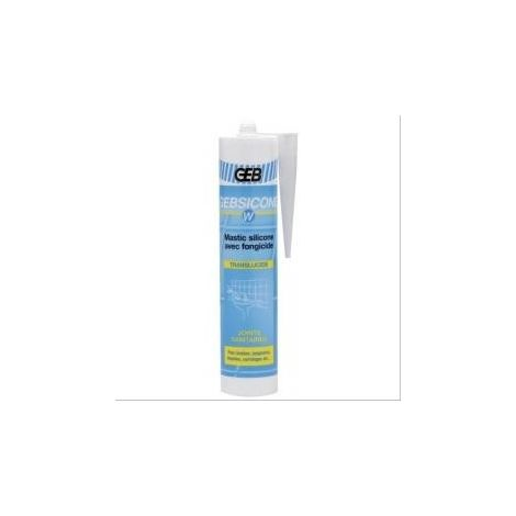 Silicone Gebsicone W pour appareils sanitaires 12 cartouches de 310ml translucide GEB
