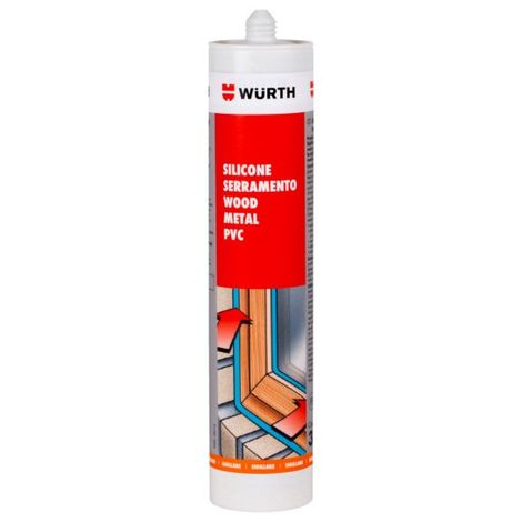 Silicone neutro ricarica A8 pro grigio piombo 0892853314 wurth
