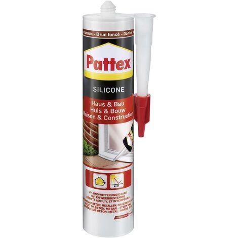 Silicone Pattex Haus & Bau PFHBB Couleur marron foncé 300 ml S85419