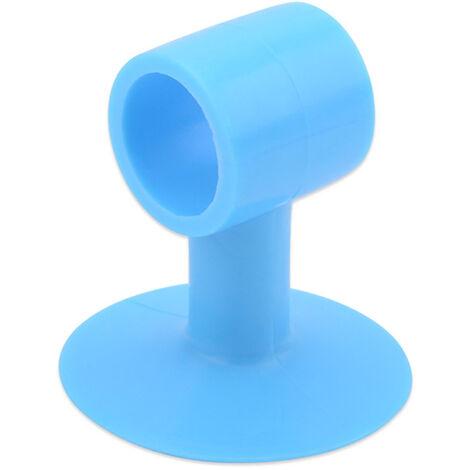 Silicone Porte D'Aspiration Punching Free Anti-Collision En Verre Tampon Porte Resistance Toilette Porte Mur Bleu Aspiration