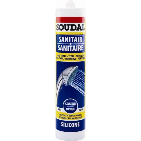 Silicone sanitaire acétique Blanc - Soudal