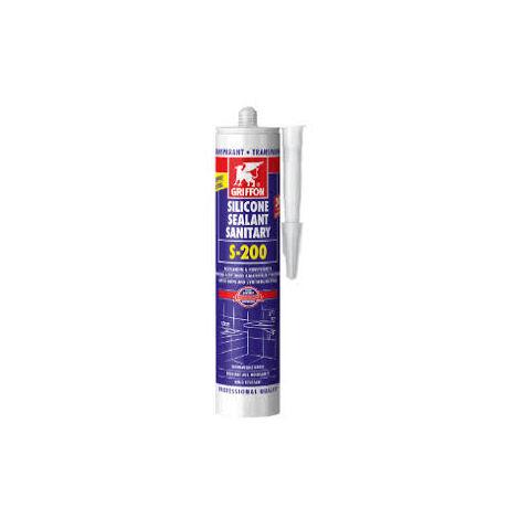 Silicone sanitaire Transparent S-200 Acrylique GRIFFON cartouche 300 ml - 1249351