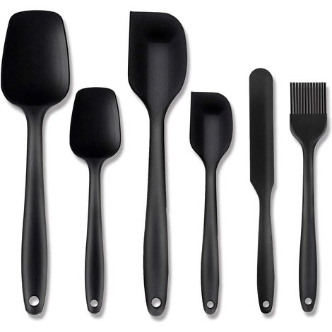 Silicone Spatula Set, 5 Piece Non-Stick Flexible Rubber Spatula Set for Cooking, Baking and Mixing - Different Colours