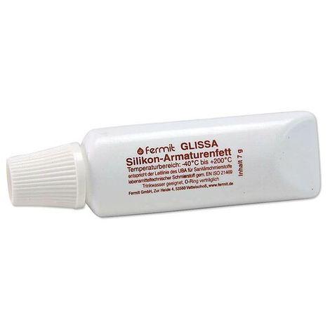 SILIKON-Armaturenfett GLISSA - für Trinkwasserarmaturen - wasserabweisend und hitzebeständig - Tube 7 g