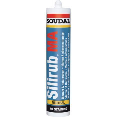 Silirub MA Masilla de lechada neutral 310ml blanco SOUDAL (por 15)
