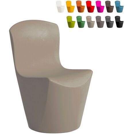 Silla de diseño moderno Slide ZOE para bar restaurante y cocina de jardín