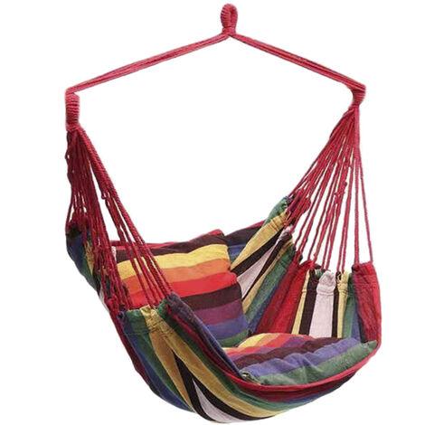Silla de hamaca,hamaca columpio grande, carga m¨¢xima de 330 libras, incluye 2 cojines Comfort