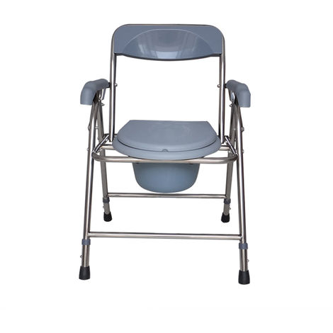 Silla de inodoro plegable Silla de ducha Cómoda Asiento para discapacitados Pot Potty Taburete para el hogar Hasaki