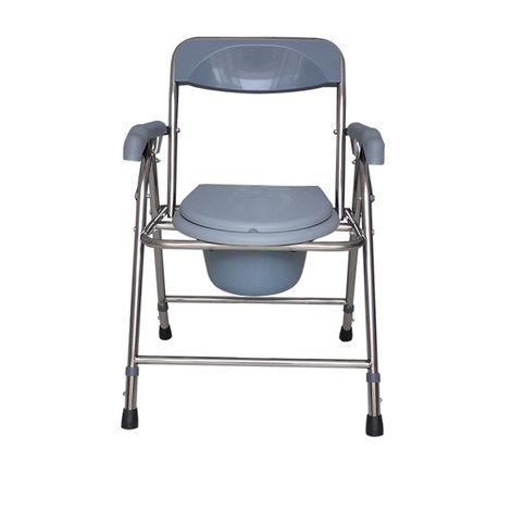 Silla de inodoro plegable Silla de ducha Tocador Asiento para discapacitados Orinal Taburete para el hogar