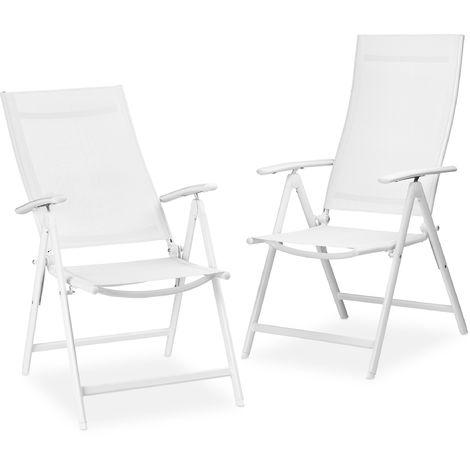 sillas de jardin de aluminio plegables