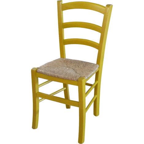 Silla de madera y asiento de paja para mesa de comedor para restaurante para pizzería para cocina para granjas arte pobre Acabad