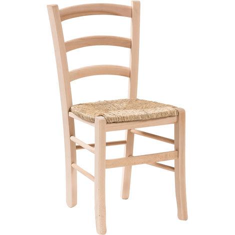 Silla de madera y asiento de paja para mesa de comedor para restaurante para pizzería para cocina para granjas arte pobre L45xPR