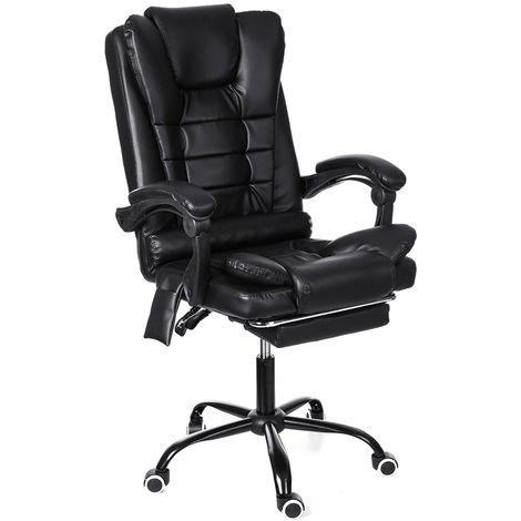 Silla de masaje de oficina Silla de juego Gamer Racing Silla reclinable 135 °